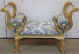 Fancy gilt settee