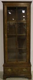 Baker 1 door curio in burled wood