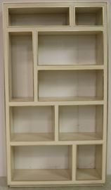 Modern History Abstract vertical bookcase