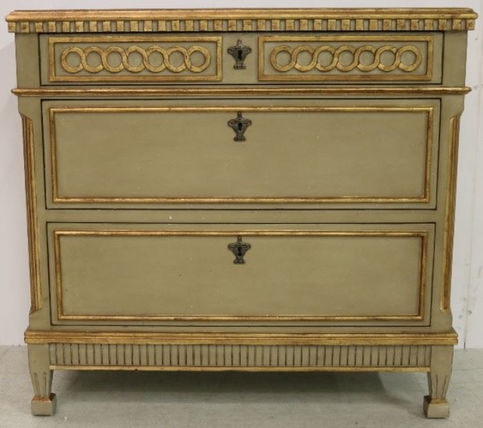 Modern History painted Regency chest