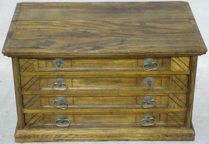 Vintage oak spool cabinet