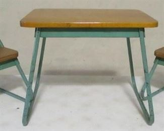 Vintage childs table and chair set