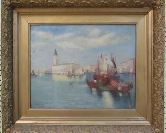 Oil on Canvas by JM Burnett 1904