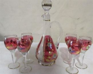 Painted decanter set