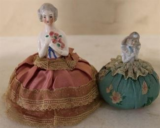 Vintage pin cushion dolls