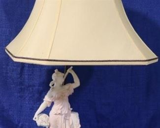 Bisque figural lamp