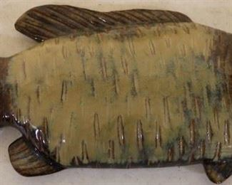 Pottery fish wall hanger