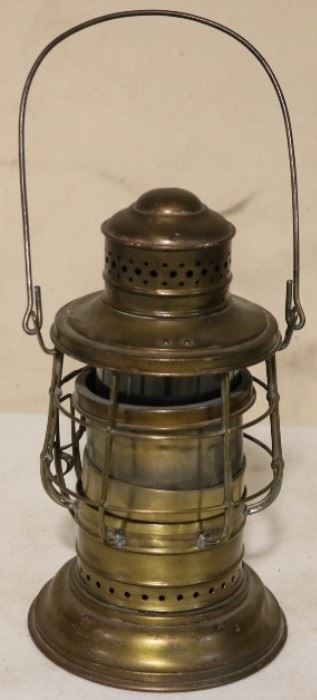 World War I lantern signed New York
