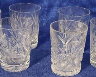 cut glass water glasses