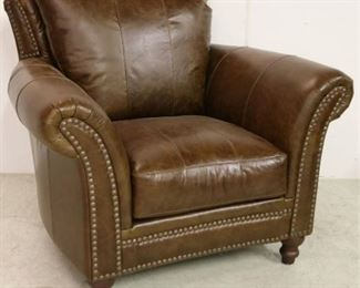 Leather Italia nail head arm chair