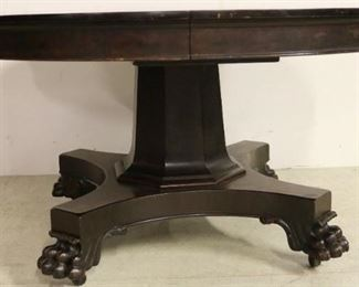 Super Empire paw foot table w/ 5 leaves