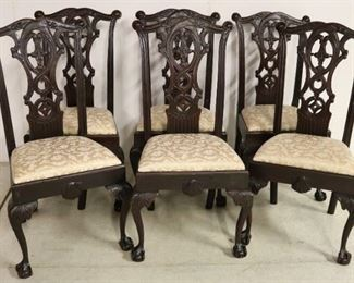 Fantastic set of Chippendale dining chairs