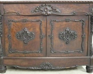 Carved rosewood server