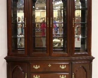 2 Part china cabinet by Sumter