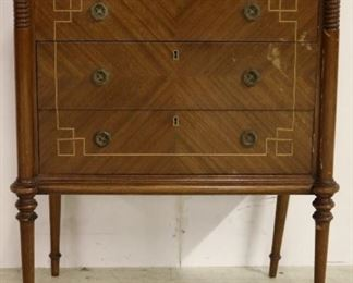 French satinwood chest w/ marble top