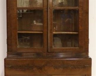 Victorian bookcase top secretary