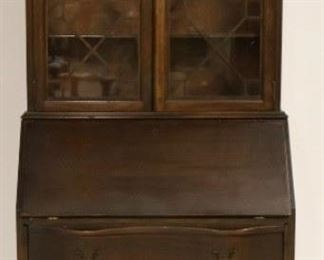 Chippendale bookcase top secretary