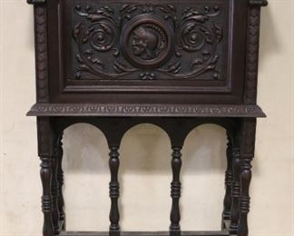 Jacobean heavily carved secretary