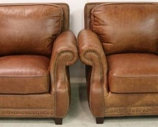 Brown Leather Lazzaro chairs