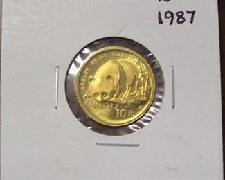 China 1/10oz gold coin