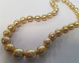 Golden South Sea pearl necklace App $11,250