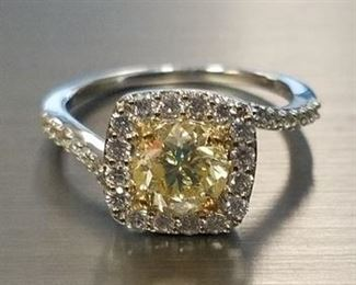 18K Yellow diamond ring App $12,500