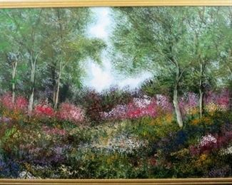 Landscape painting on Canvas by Anna Sandhu Ray