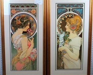 Primrose/Feather by Alphonso Mucha