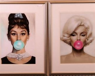 Marilyn Monroe and Audrey Hepburn Bubble gum