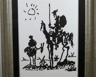 Don Quixote silkscreen by Pablo Picasso