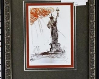 Statue of Liberty Giclee by Salvador Dali
