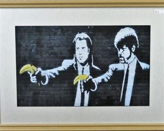 Pulp Fiction by Graffiti Artist Banksy