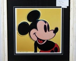 Mickey Mouse Giclee by Andy Warhol
