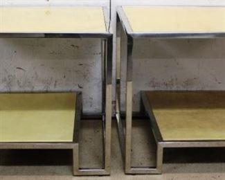 Pair Modern History vellum tables