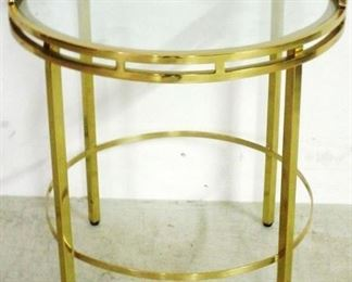 Brass & glass table by Alden Parkes