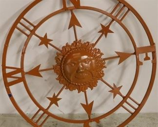 Compass with sun face