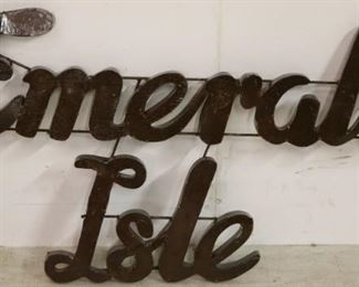 Metal Emerald Isle sign