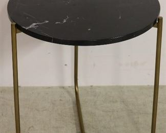 Marble top table by Alden Parkes