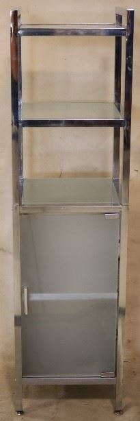 Chrome & glass cabinet