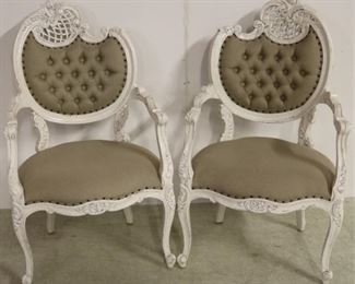 Pair French chairs by Iron Butterfly