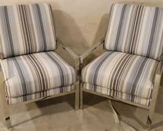 Chrome pair arm chairs