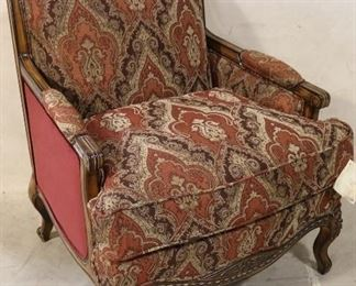 Upholstered French arm chair