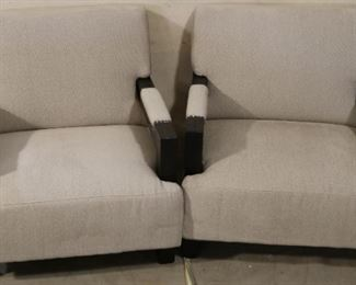 Upholstered Lazzaro arm chairs