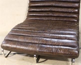 Lazzaro double chaise lounge in leather