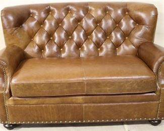 Lazzaro Leather Chesterfield settee