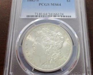 1882-S Graded MS64 silver dollar