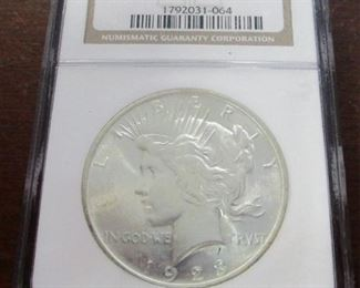 1923 Graded MS63 silver dollar