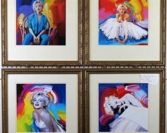 Marilyn Monroe giclee by Peter Max