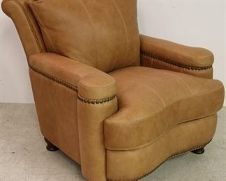 Leather Italia Hutton Chair in Saddle