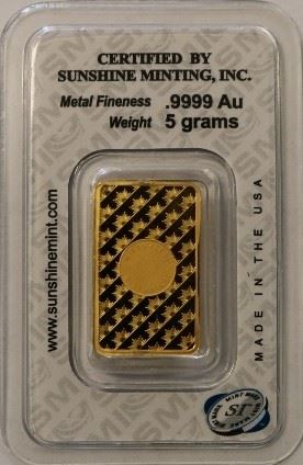 5 gram carded gold bar